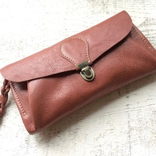 "Genuine leather wallet ""series-envelope"" cinnamon"