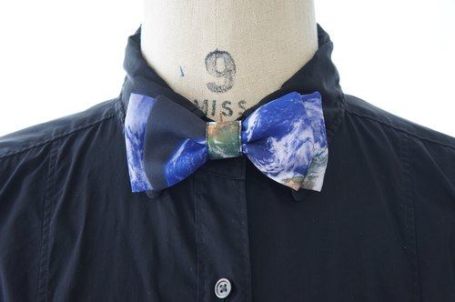 Bow tie / Earth Bow tie Earth print