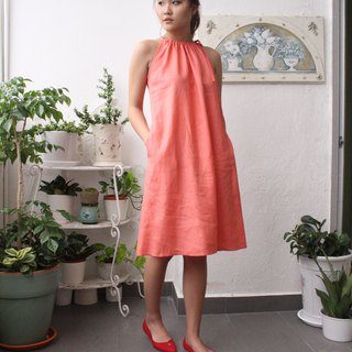 linen dress / casual linen dress / women's clothing / handmade linen dress E 57D