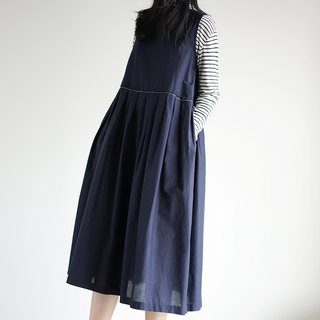 Loose Navy Silk Sundress