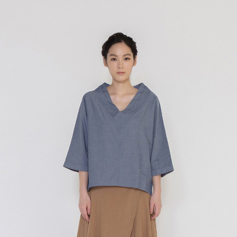 沉静时光开襟上衣 Save The Moment Kimono V neck Top