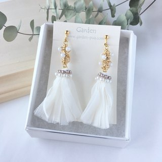 fusako earrings pink beige