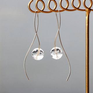 14 kgf - nuance curve crystal pierced earrings Impossible Rear Earbal