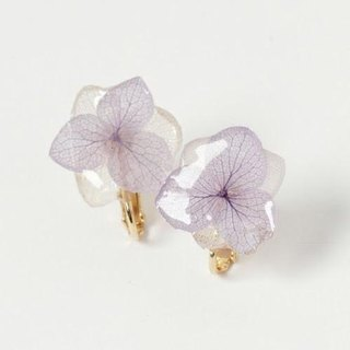 Hydrangea Earrings*Purple White*PC004E