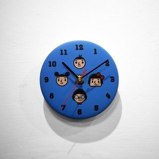 【BestFriend】Graphic Clock / 11-BLUE / 四人行-蓝