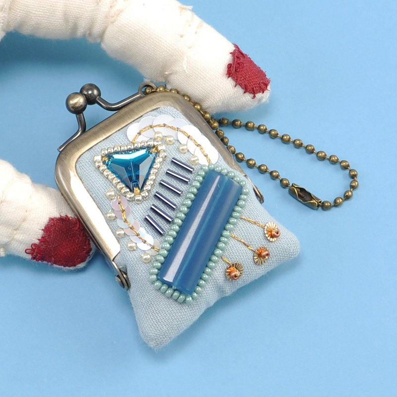 tiny purse for rings and pill,coins,accessories,bag charm purse blue purse 28