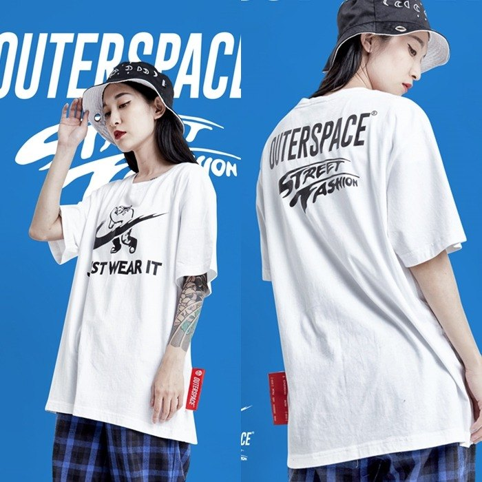 OUTER SPACE JUST WEAR IT TEE(白)