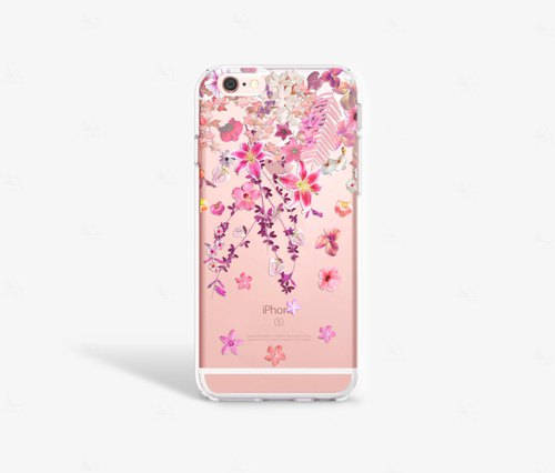 Floral iPhone 7 Case Clear iPhone 8 Case Clear iPhone 7 Plus Clear Case