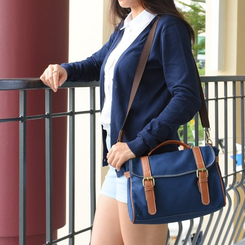 Buddy crossbody bag - navy blue