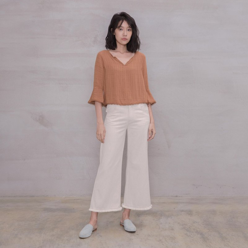 自在随兴流苏宽裤 Free The Soul Tassel Trousers