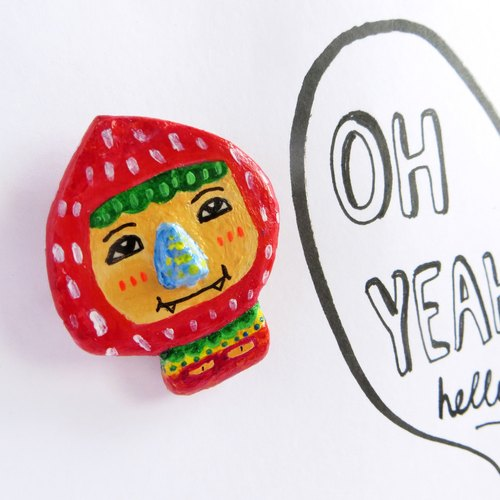 別針 Quirky Brooch series - Berry Big Head