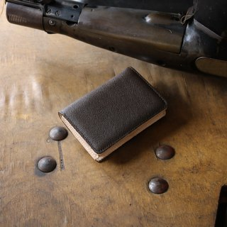 Japan manufactured cowhide name one-piece name piece Bin bamboo Weinheimer made in JAPAN handmade leather card case