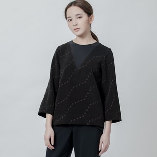 O.OO波纹印花上衣 O.OO Studio Wave Printed Top