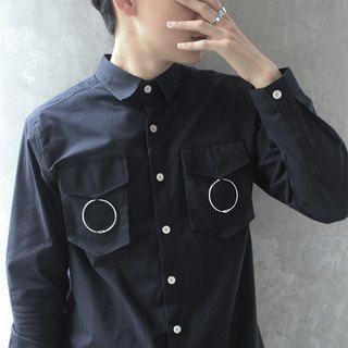 'Brooklyn' Double Moon Shirt (Black)