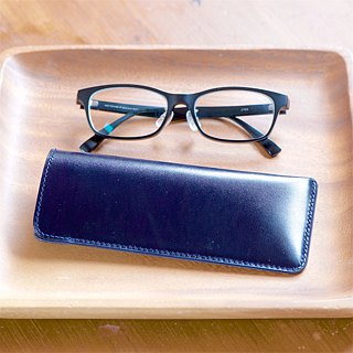 Slim green glasses case