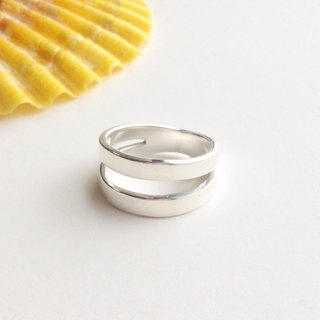 [Order production] ring / Silver 950 twin design <Unisex>