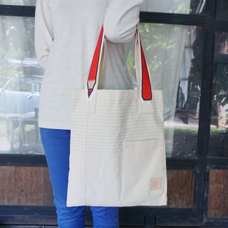 Back to school with Red Pencil tote bag