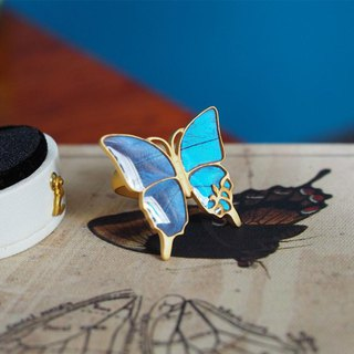 Morpho butterfly's big antique ring