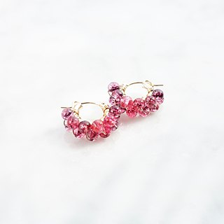 14kgf*Spring Jerry multicolored quartz pierced earring 可変耳夹式