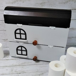 Light gray toilet paper storage wall box