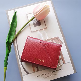 Ellie Mini Wallet in Lipstick Red Saffiano Leather