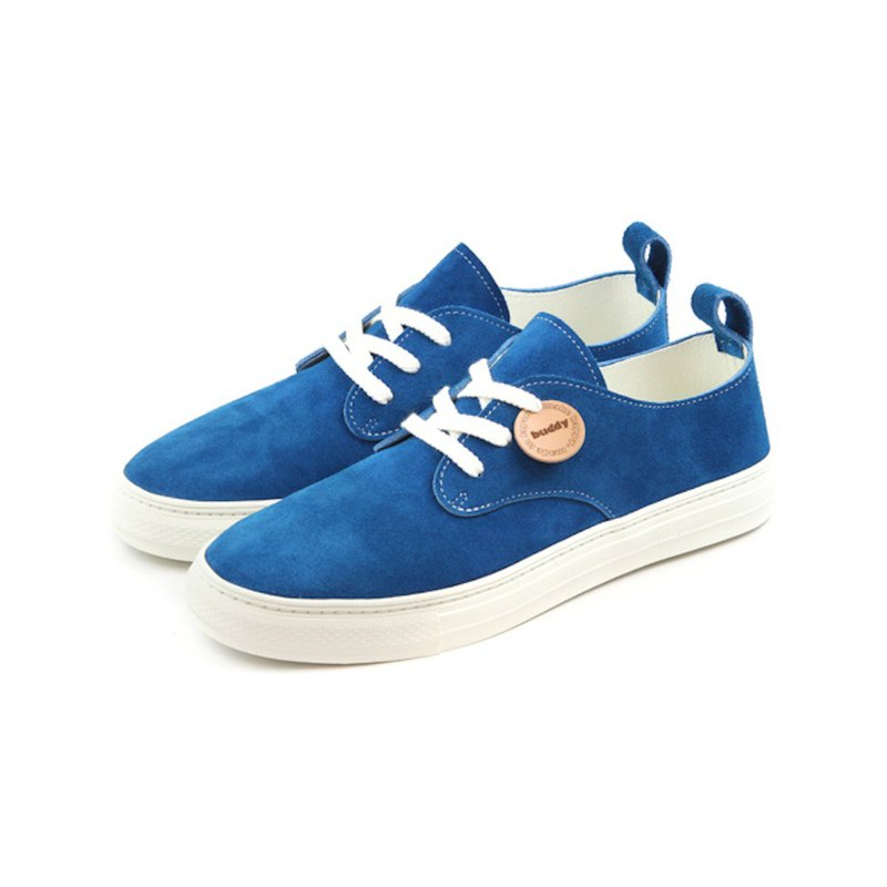Corgi Low Blue / blue leather sneakers