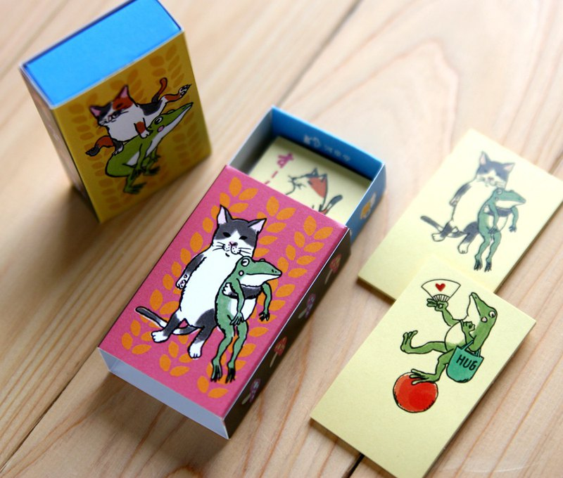 Cat and Frog Matchbox Sticky Note