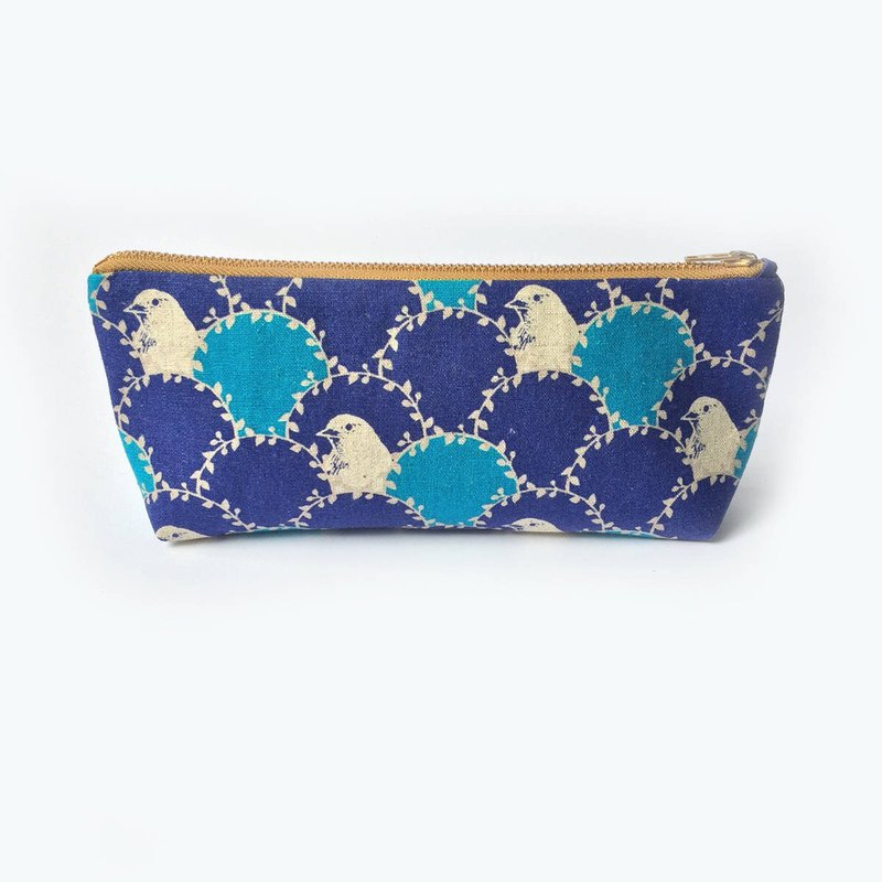 筆袋/化妝袋 Canvas Zipper Pouch, Bird in Arc