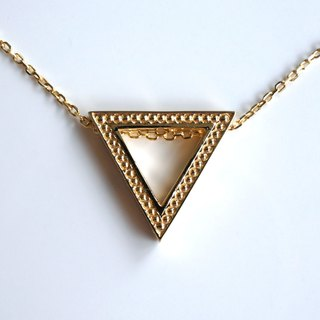 Mill Grain Triangle Necklace