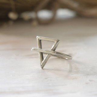 Alchemy Symbol Ring jewelry magic goth occult Vintage Alchemical silver gothic triangle