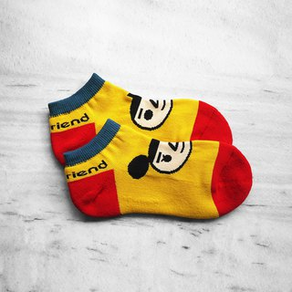【BestFriend】BestFriend Logo Knit Socks / 品牌经典踝袜 / 光谱黄