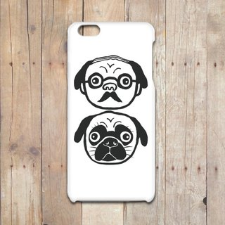 Professor and Pug iPhone case