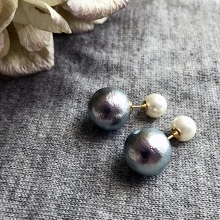 [Earrings] shell pearl + 14 KGF with cotton pearl catch! / DollPr 06