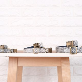 Dog collars Indigo x Natural