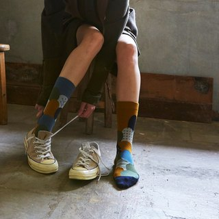 socks_wooden_hill / irregular / socks / dot / monotone