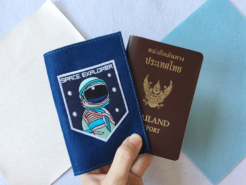 Galaxy Iron-on patch passport cover