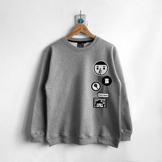 【BestFriend】Delicious Long Sleeve Sweat / 长袖大学T (灰)