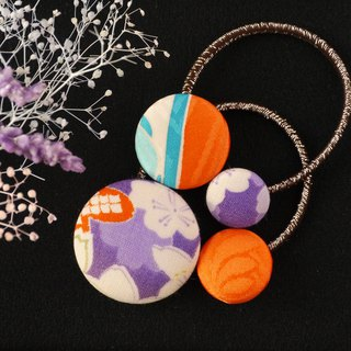 Happy hair ornament Kimono hair rubber 2 pieces Plum stream