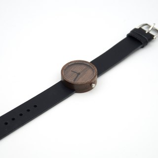 Nakari watch Walnut Black Girl size