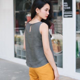 Cropped TANK TOP - Middle Gray