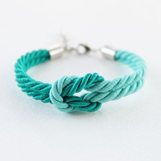 Sea green / Matted fresh mint tie the knot rope bracelet