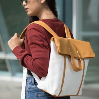 BACKPACK / ZINC - FOLD&HOLD / GOLDEN BROWN - WHITE (ZN170303)