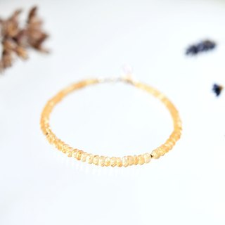 14KGF citrine bracelet November birthstone fraternity and hope prosperity and fortune luck stone