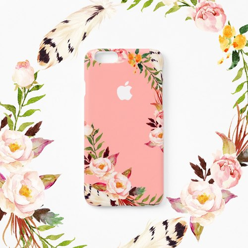 iPhone case - Peach Roses (hard shell) - for iPhones - non-glossy C19
