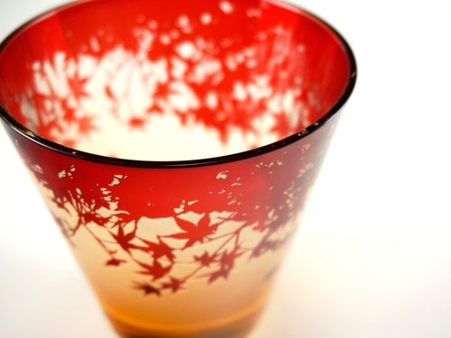 Autumn leaves Glass [orangutan]