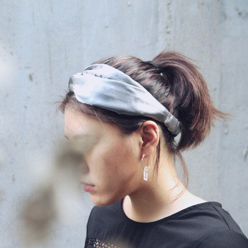 极光/金属银/激光布/手工 十字松紧发带_Aurora//flash duotone fiber/silver/Viscose/Taiwan Hand made hair band