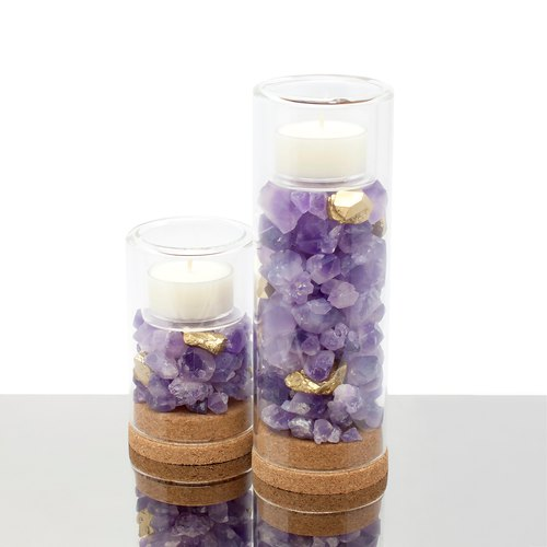 Amethyst Candle Holder 天然紫水晶原石烛台