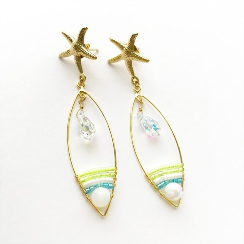 Star fish earrings (yellow)