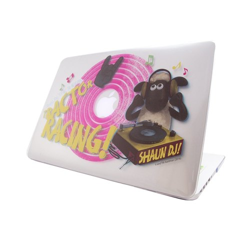 笑笑羊正版授权(Shaun The Sheep)-Macbook水晶壳:【DJ Time】(透明)《Macbook Pro/Air 13寸 专用》