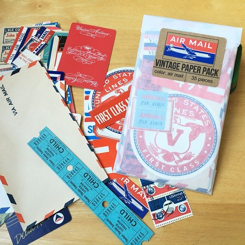 Saturday Morning Vintage / Paper Pack 复古纸材包 (Air Mail)
